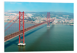 Foam board print  Ponte 25 de Abril over the Tagus River - Gabrielle & Michel Therin-Weise