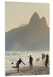 Foam board print  Locals playing football on Ipanema - Alex Robinson