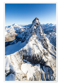 Premium poster  The unique shape of the Matterhorn - Roberto Moiola