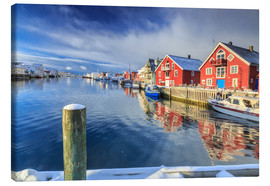 Canvas  colorful fisherman houses in Norway - Roberto Moiola