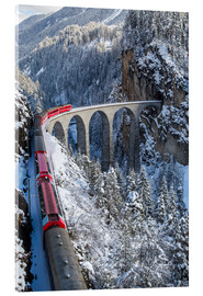 Acrylic print  The red train - Roberto Moiola