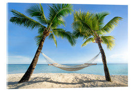 Acrylic print  Hammock at the beach in the south pacific - Jan Christopher Becke
