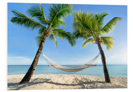 Foam board print  Hammock at the beach in the south pacific - Jan Christopher Becke