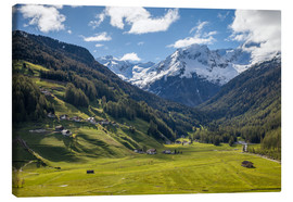 Canvas print  High mountain valley at Riva di Tures South Tyrol (Italy) - Christian Müringer