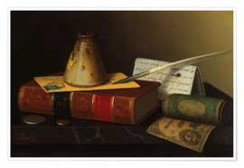 Premium poster Still life with a writing table
