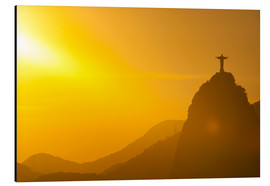 Aluminium print  View from the Sugarloaf of Christ the Redeemer statue on Corcovado, Rio de Janeiro, Brazil, South Am - Michael Runkel