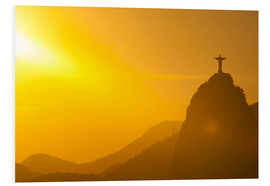 Foam board print  View from the Sugarloaf of Christ the Redeemer statue on Corcovado, Rio de Janeiro, Brazil, South Am - Michael Runkel