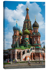 Canvas print  St. Basil's Cathedral, Moscow - Michael Runkel