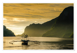 Premium poster Outrigger in the bay of El Nido