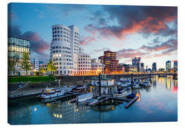 Canvas print  Dusseldorf media harbor - euregiophoto