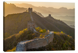Canvas  Great Wall of China, UNESCO World Heritage Site, dating from the Ming Dynasty, section looking towar - Alan Copson