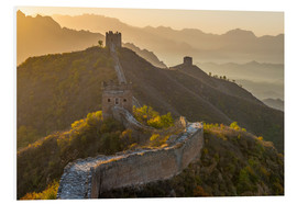 Foam board print  Great Wall of China, UNESCO World Heritage Site, dating from the Ming Dynasty, section looking towar - Alan Copson