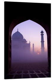 Aluminium print  Taj Mahal at sunrise - Peter Barritt