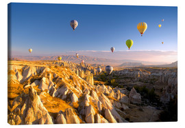 Canvas print  Hot air balloons over Cappadocia - David Clapp