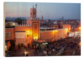 Wood print  Jemaa El Fna, Marrakesh - Frank Fell