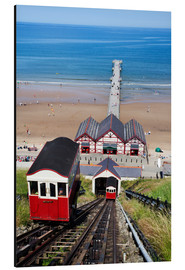 Aluminium print  Cliff Tramway and the Pier at Saltburn by the Sea, Redcar and Cleveland, North Yorkshire, Yorkshire, - Mark Sunderland
