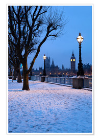 Premium poster  South Bank in winter - Stuart Black
