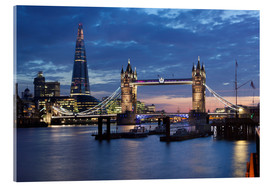 Acrylic glass  The Shard and Tower Bridge at night - Stuart Black