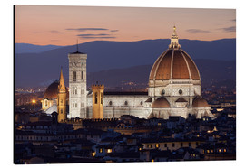 Aluminium print  Duomo at night from Piazza Michelangelo, Florence, UNESCO World Heritage Site, Tuscany, Italy, Europ - Stuart Black