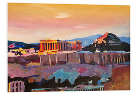 Foam board print  Athens Greece Acropolis At Sunset - M. Bleichner