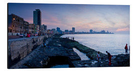 Aluminium print  The Malecon, Havana, Cuba, West Indies, Central America