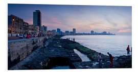 Foam board print  The Malecon, Havana, Cuba, West Indies, Central America