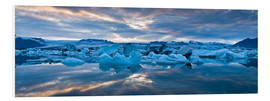 Foam board print  Jokulsarlon, South Iceland, Northern Europe