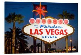 Acrylic glass  Las Vegas Sign at night