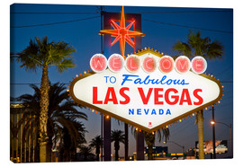 Canvas  Las Vegas Sign at night