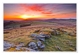 Premium poster  Dawn in Dartmoor National Park - Julian Elliott
