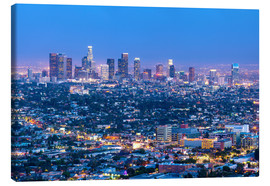 Canvas print  Cityscape of the Los Angeles skyline at dusk, Los Angeles, California, United States of America, Nor - Chris Hepburn