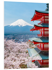 Forex  Chureito Pagoda with Fuji and cherry blossoms - Jan Christopher Becke