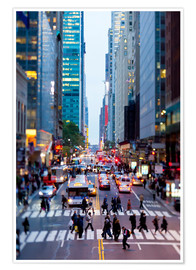 Premium poster  42nd Street in Manhattan - Gavin Hellier