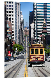 Acrylic print  Cable car crossing California Street - Gavin Hellier