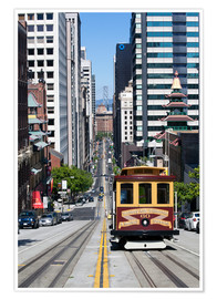Poster  Cable car crossing California Street - Gavin Hellier