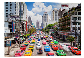Acrylic print  Colourful cars in Bangkok - Gavin Hellier