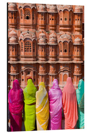 Aluminium print  Women in front of the Hawa Mahal - Gavin Hellier