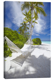 Canvas print  Hammock on tropical beach - Sakis Papadopoulos