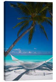 Canvas print  Hammock on a tropical beach - Sakis Papadopoulos