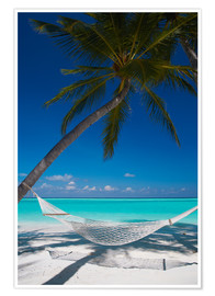 Premium poster  Hammock on a tropical beach - Sakis Papadopoulos
