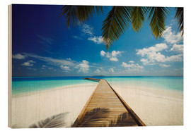 Wood print  Wooden jetty out to tropical sea - Sakis Papadopoulos