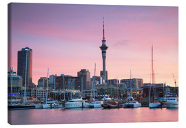 Canvas print  Viaduct Harbour and Sky Tower, Auckland - Ian Trower