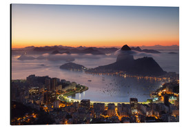 Aluminium print  Sugarloaf Mountain and Botafogo Bay - Ian Trower
