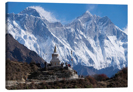 Canvas print  Tenzing Norgye Stupa & Mount Everest - John Woodworth