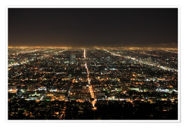 Premium poster  Los Angeles at night - Wendy Connett