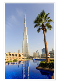 Premium poster  Pool and Burj Khalifa - Amanda Hall
