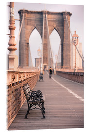 Acrylic print  Bank on the Brooklyn Bridge - Amanda Hall