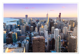 Premium poster Chicago skyline