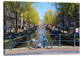 Canvas  Amsterdam waterway - Amanda Hall
