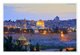 Premium poster  Jerusalem with Dome of the Rock - Neil Farrin